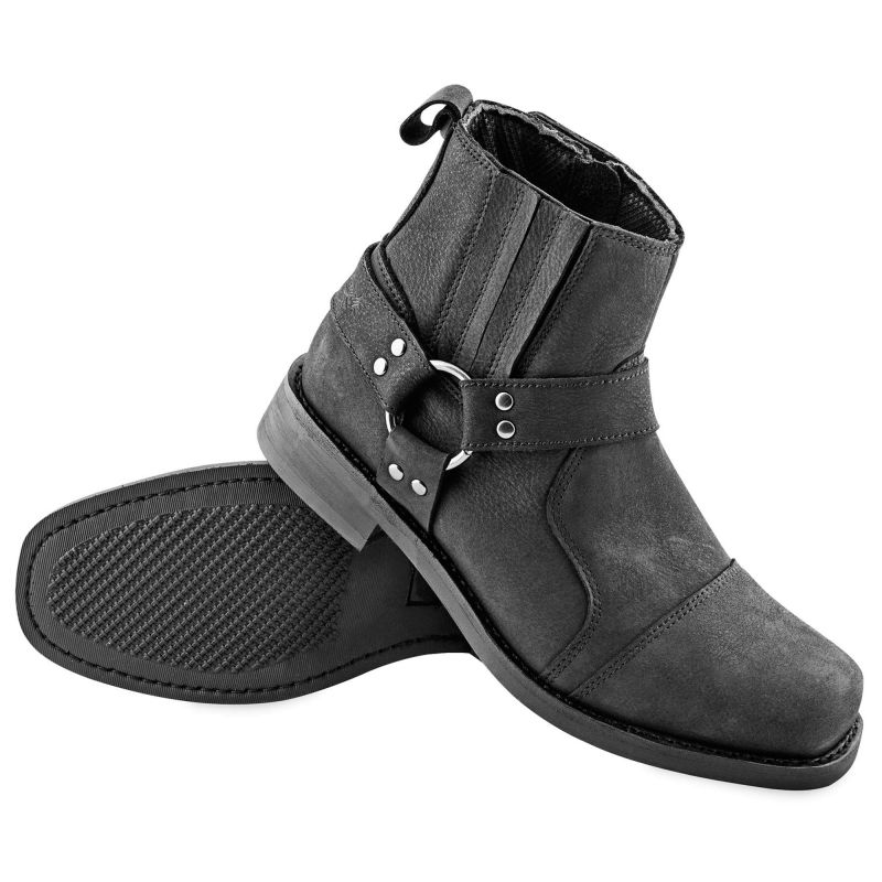 Speed and Strength Cruise Missile Boots | Men's Harness Biker Boots