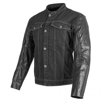 View Speed and Strength Band Of Brothers Leather Denim Jacket