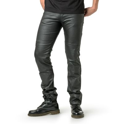 Draggin Slix Jeans | Black Coated Jeans
