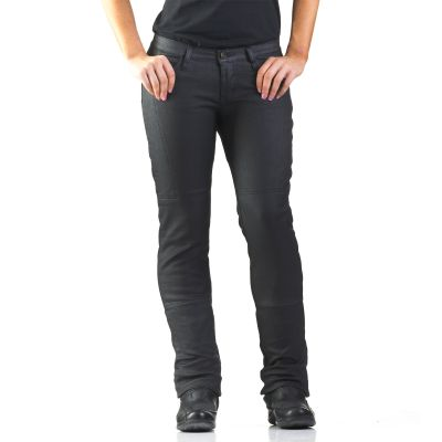 Draggin Slix Women's | Black Coated Jeans