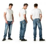Draggin Rebel Jeans |Light Blue Kevlar Motorcycle Jeans