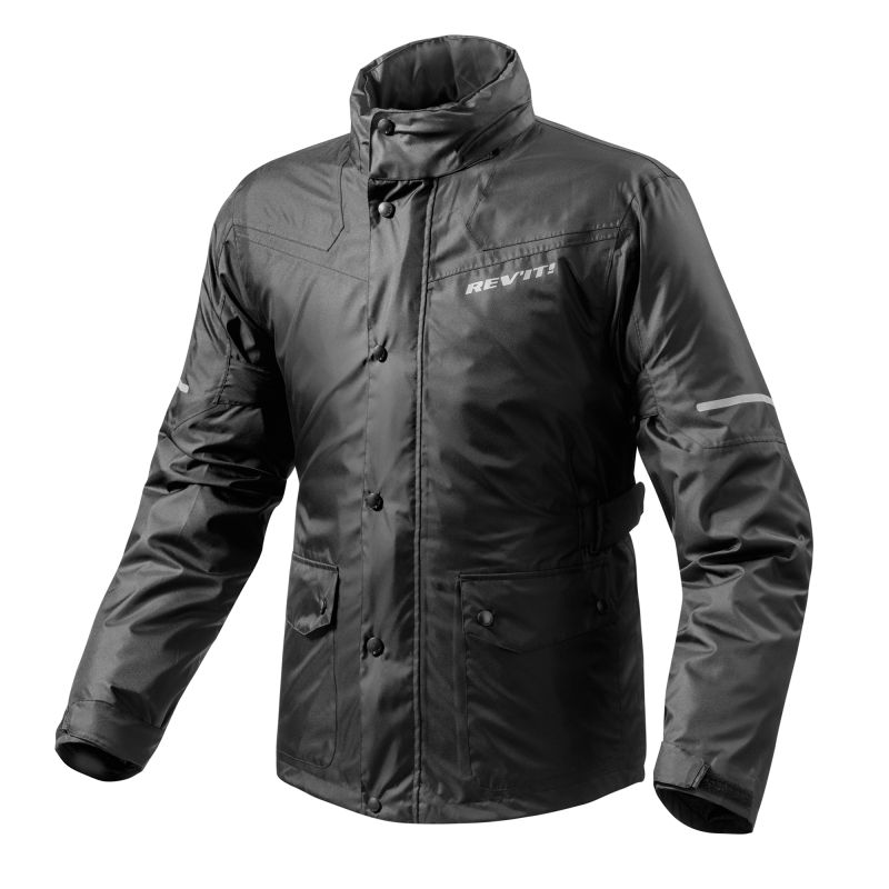 REVIT! Nitric 2 H20 Waterproof Motorcycle Rain Over Jacket With Hood
