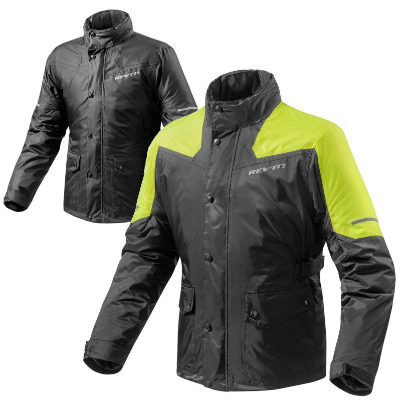 REVIT! Nitric 2 H20 Waterproof Motorcycle Rain Over Jacket With Hood