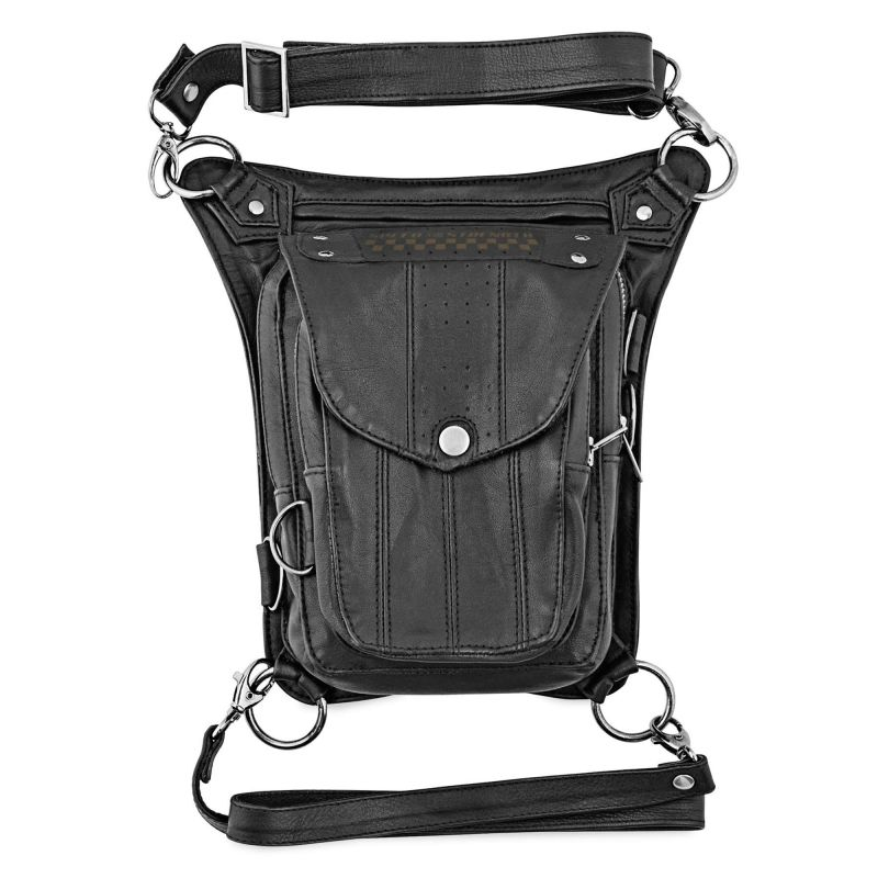 Speed and Strength Speed Society motorcycle Leather Hip Bag