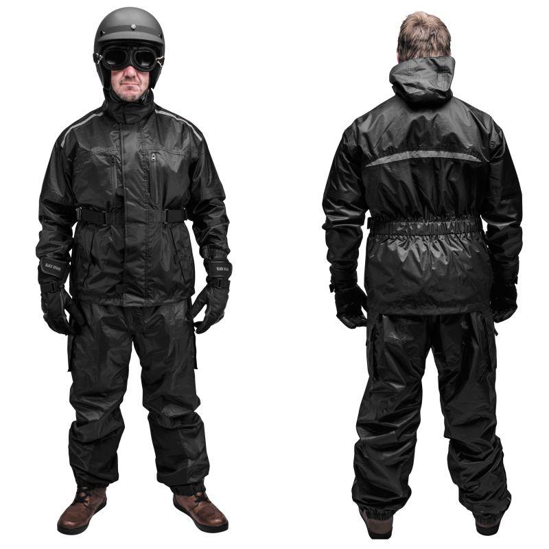 Black Brand Tempest Rain Suit - Black - Two Piece - Motorcycle Rain Suit