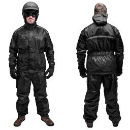 Black Brand Tempest Rain Suit - Black - Two Piece - Motorcycle Rain Suit