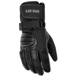 Black Brand Cross Over Gloves | Warm and Waterproof Motorcycle Gloves