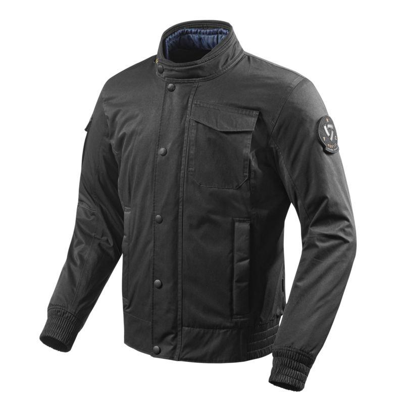REVIT! Millburn Jacket   Millitary Bomber Style Waterproof Motorcycle Jacket   Black