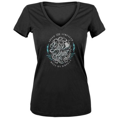 Speed and Strength Black Heart™ Ladies T-Shirt
