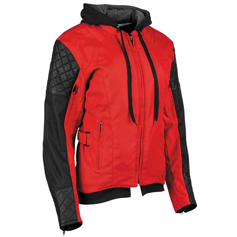 Speed and Strength Women's Double Take Black Textile Motorcycle Jacket With Armoured