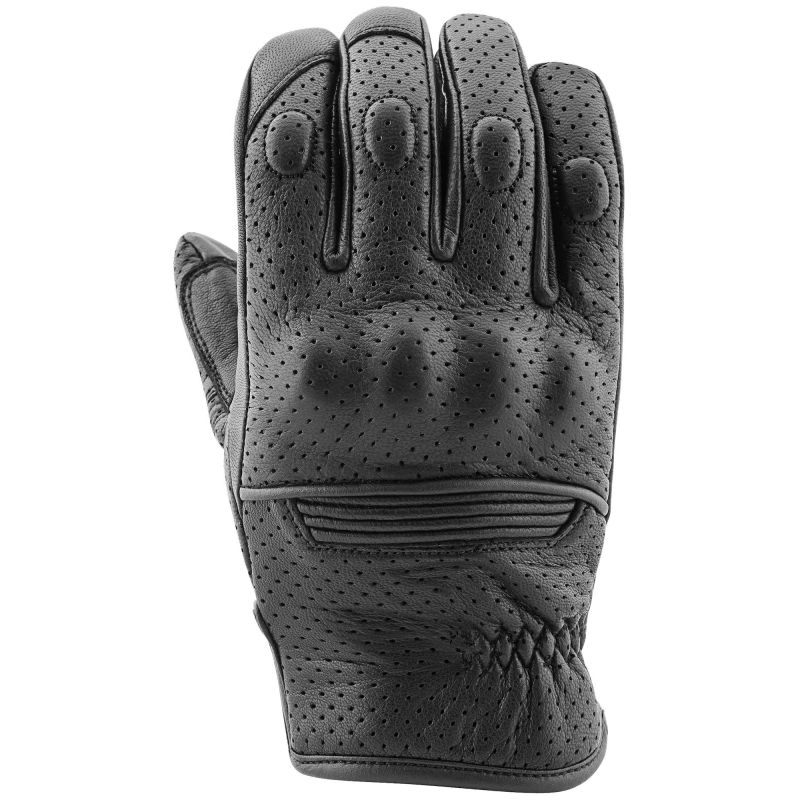 Speed and Strength Straight Savage Gloves | Black Perforated Leather Summer Motorcycle Gloves
