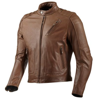 REV'IT! Redhook Classic Cafe Style Leather Jacket - FREE Delivery - Earn Crew Cash Back - 30 Day Hassle Free Returns