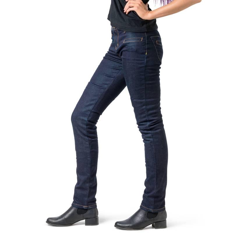 f477e385e3516 Draggin Twista Women's Skinny Stretch Kevlar Jeans | Dark Blue