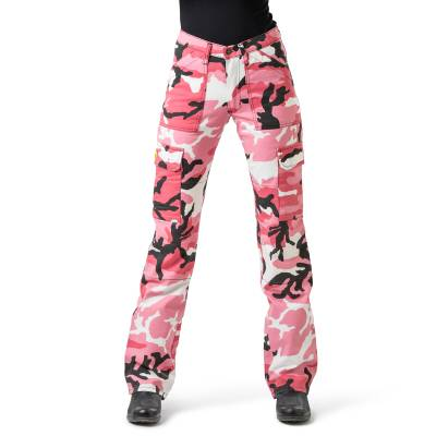 Draggin Women's Candy Pink Camo Cargo Pants