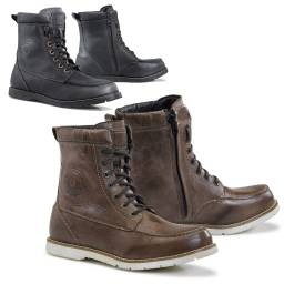 Forma Naxos Boots | Waterproof Leather Moc Toe Motorcycle Boots