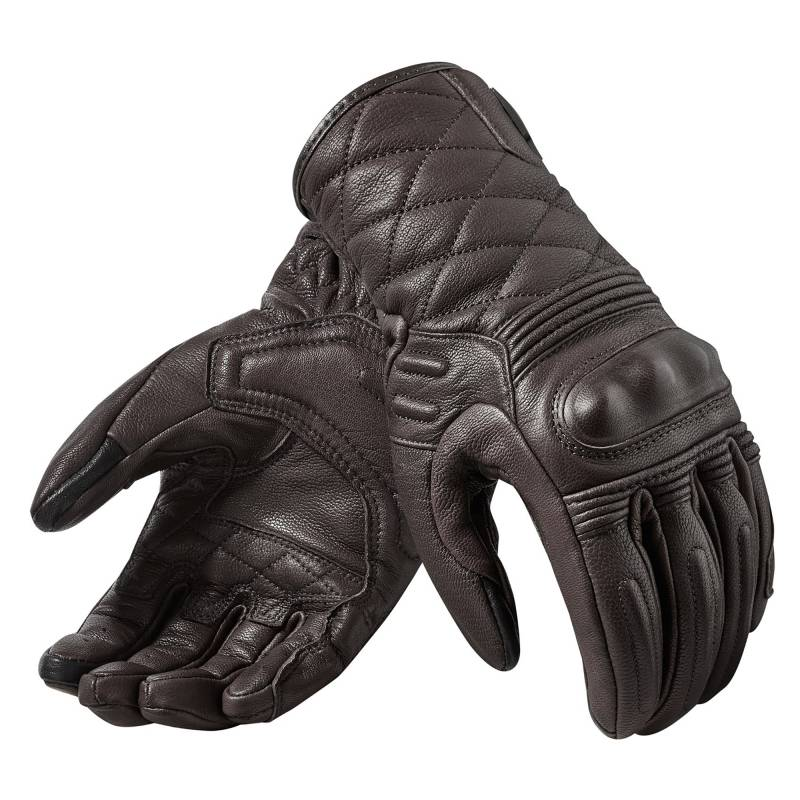 REVIT! Monster 2 Women's Gloves | Women's Retro Leather Motorcycle Gloves Dark Brown