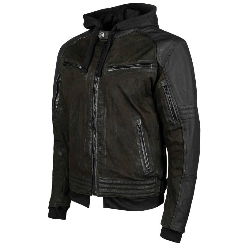 Speed and Strength Straight Savage Waxed Canvas Motorcycle Jacket - Olive - Sizes Small To 3XL
