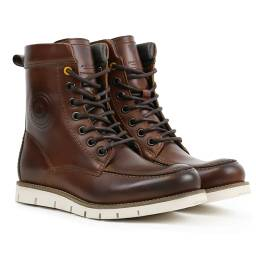 REVIT Mohawk 2 Boots - Brown Leather Moc-Toe Motorcycle Boots