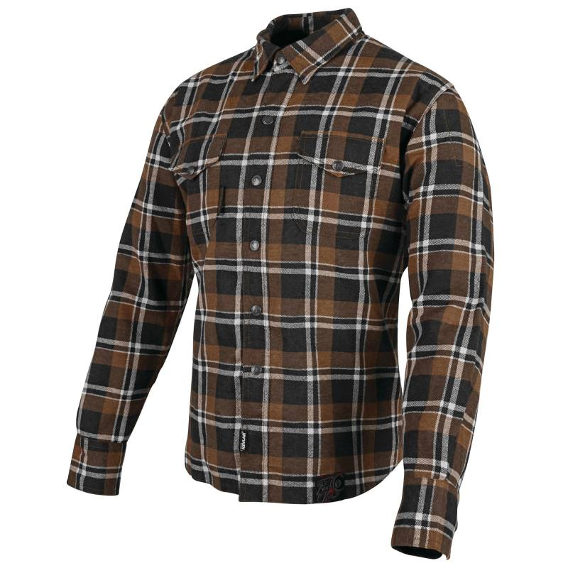 Speed and Strength Mens Black 9 Moto Shirt Brown