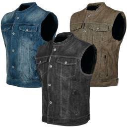 Speed and Strength Soul Shaker Denim Vest With Spine Protector