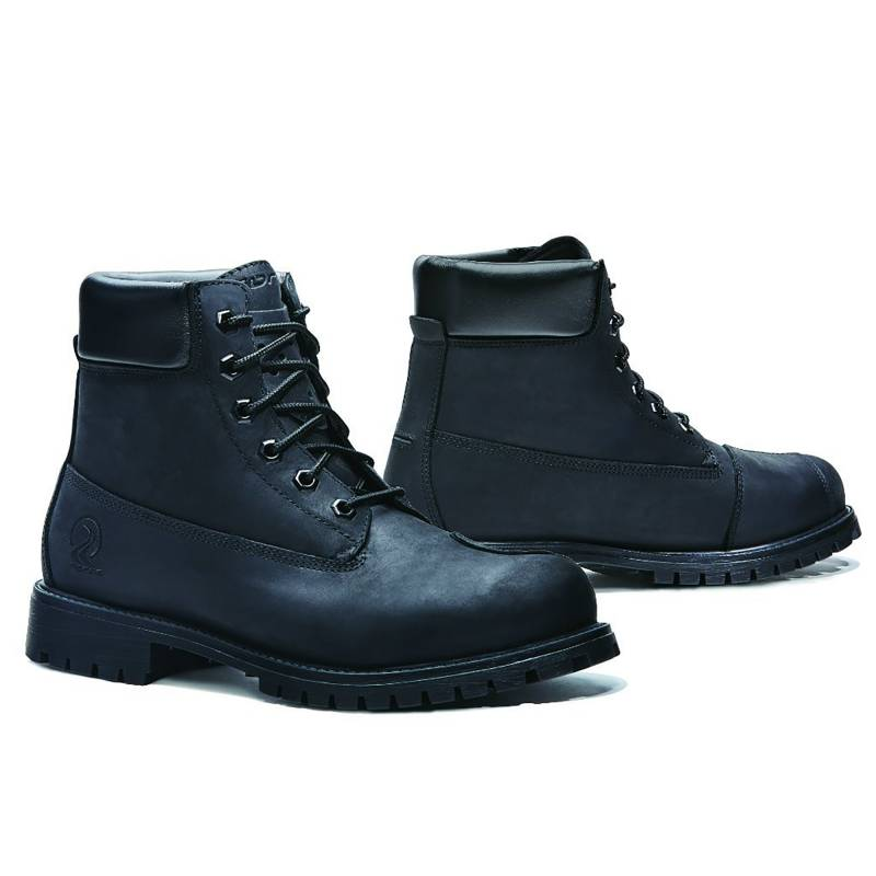Forma Elite Boots Black | Timberland Style Protective Motorcycle Boots