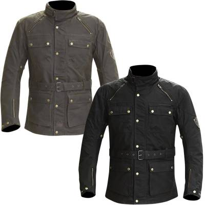 Merlin Rowan Waxed Cotton Motorcycle Jacket