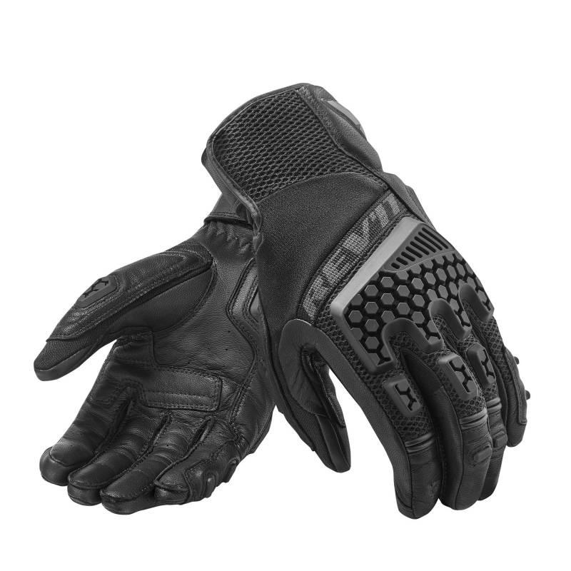 REV'IT! Sand 3 Summer Motorcycle Gloves - Black