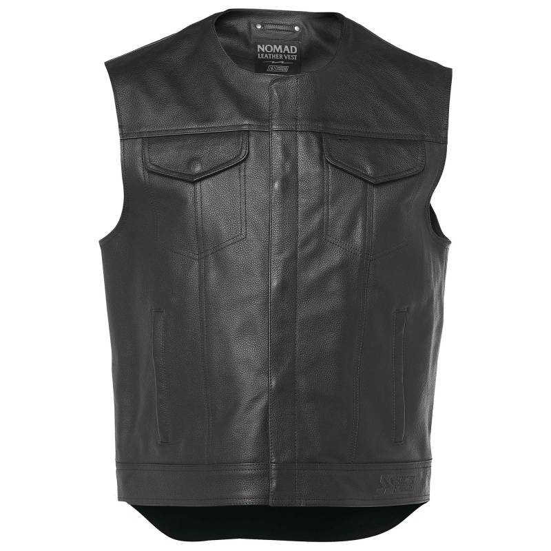 Speed and Strength Nomad Leather Biker Cut Vest