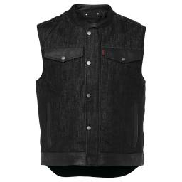 Speed and Strength Rover Vest - Black Denim Motorcycle Vest
