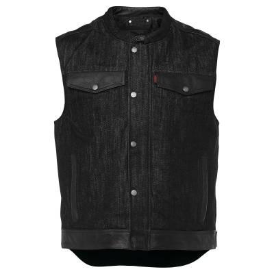Speed and Strength Rover Vest - Black Denim Motorcycle Vest