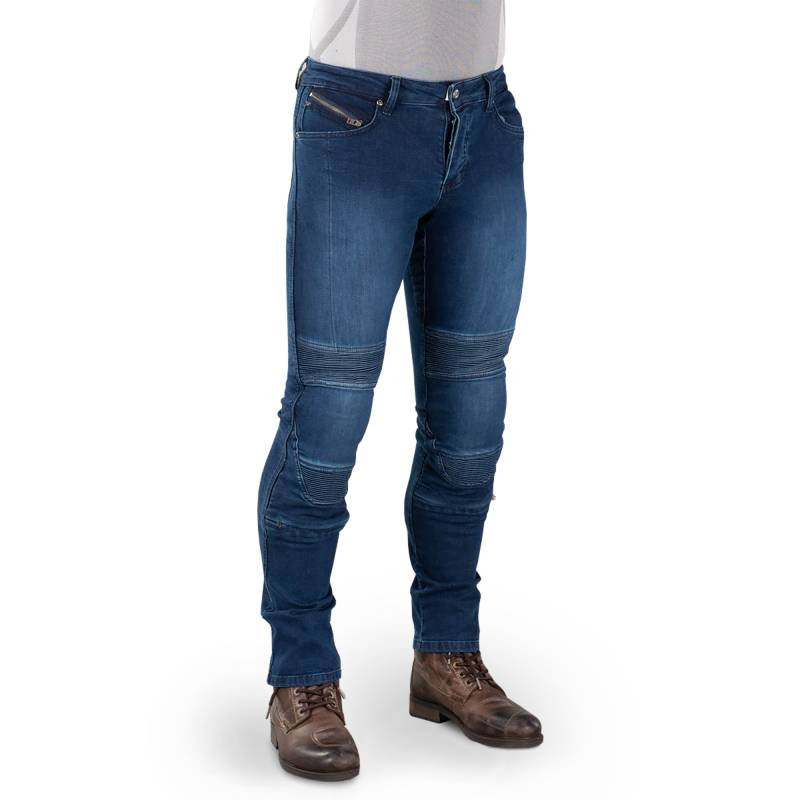 Macna Individi Jeans - Blue Slim Fit Motorcycle Jeans