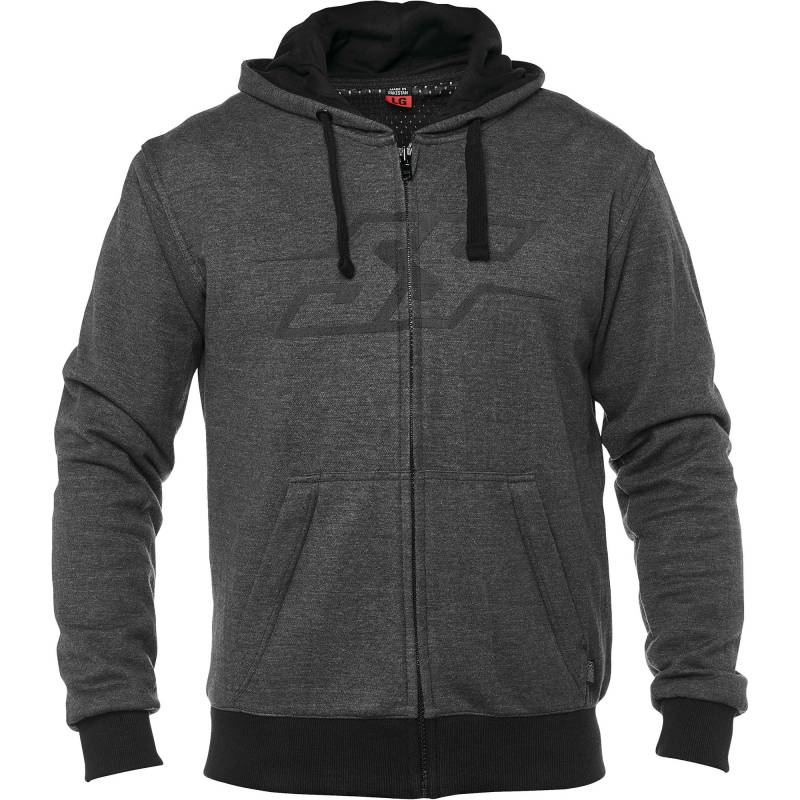 Speed and Strength Resistance Armoured Aramid Motorcycle Hoodie - Charcoal