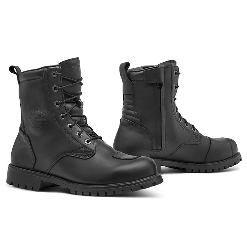 Forma Legacy Boots | Black Waterproof Cafe Racer Boots