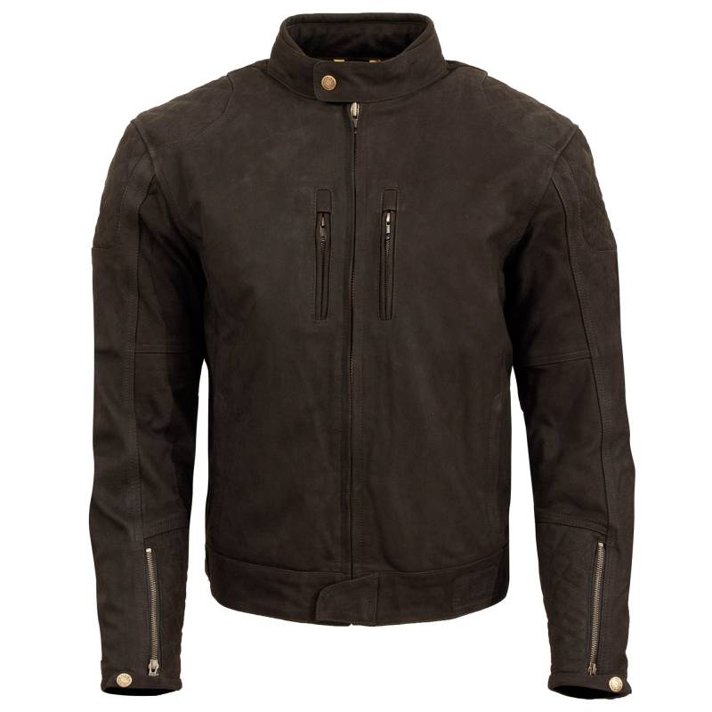 Merlin Stockton Leather Jacket | Dark Brown