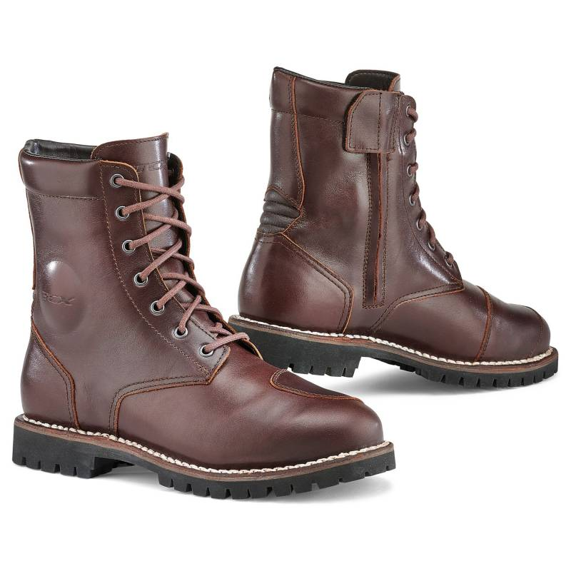 TCX Hero Waterproof Vintage Motorcycle Boots - Vintage Brown