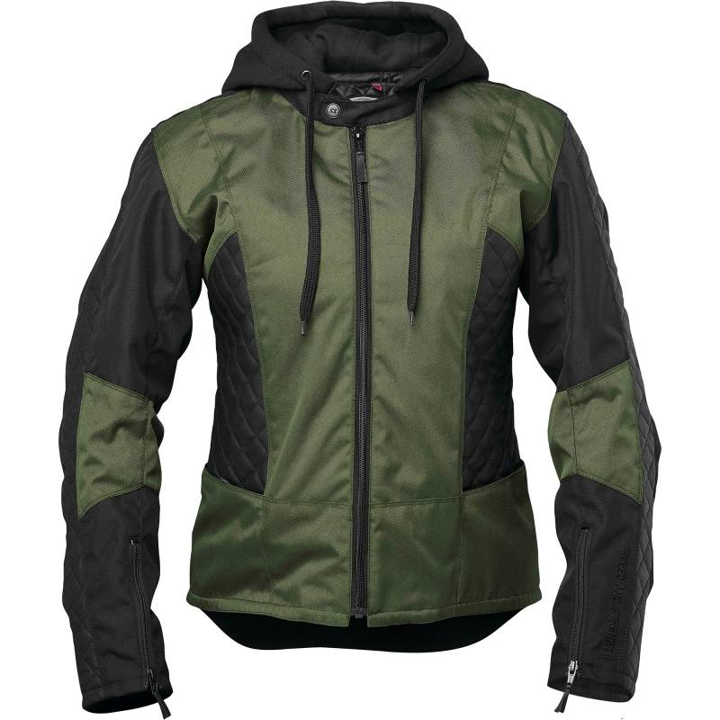 Speed and Strength Womens Minx Armoured Jacket | Olive / Black