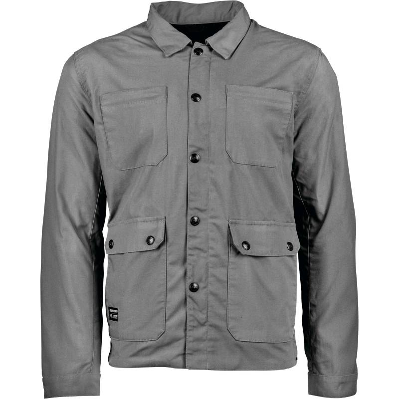 Speed and Strength United By Speed grey textile motorcycle Jacket