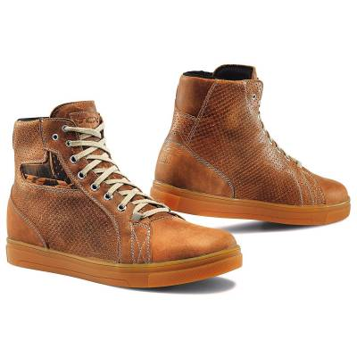 TCX Street Ace Air Native Brown Leather Motorcycle Shoes