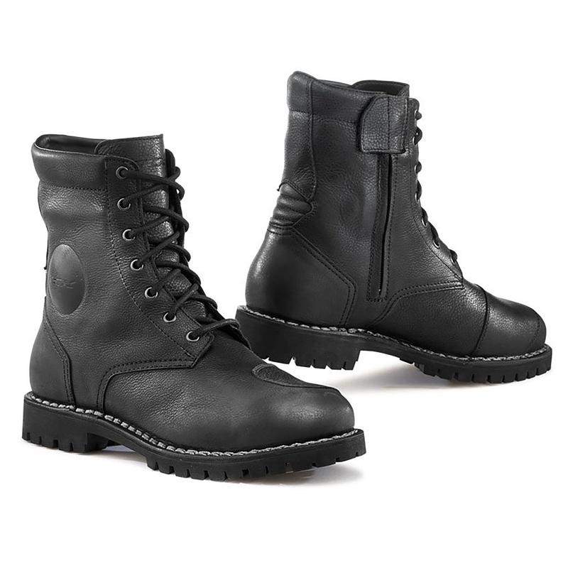 TCX Hero Waterproof Vintage Motorcycle Boots - Black