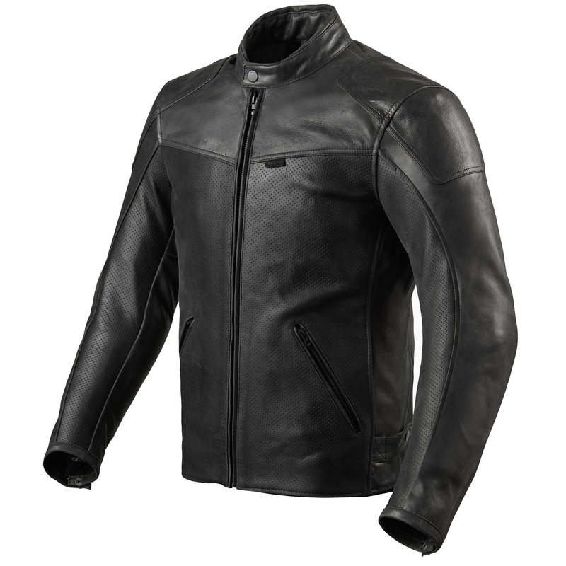 REVIT! Sherwood Air Perforated Leather Motorcycle Jacket