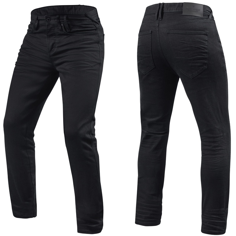 REVIT! Jackson Skinny Fit Black Motorcycle Riding Jeans