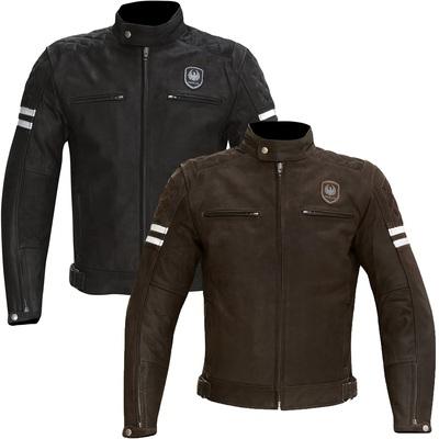 Merlin Hixon Retro Leather Motorcycle Jacket