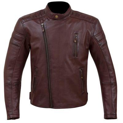 Merlin Lichfield Leather Motorcycle Jacket - Oxblood Red