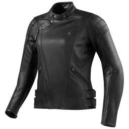 Ladies REVIT! Bellecour Black Leather Motorcycle Jacket