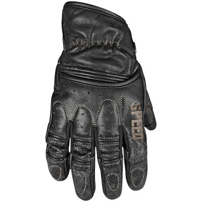 Speed and Strength Rust and Redemption Perforated Leather Summer Motorcycle Gloves With Short Cuff