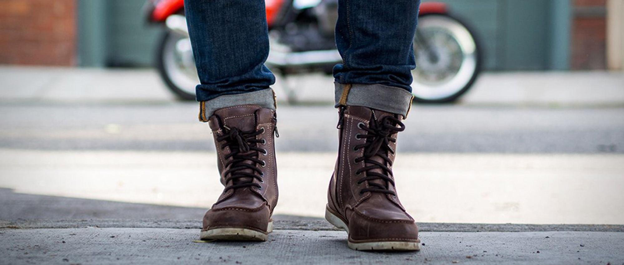 Forma Naxos Boots - Moc Toe Waterproof Motorcycle Boots
