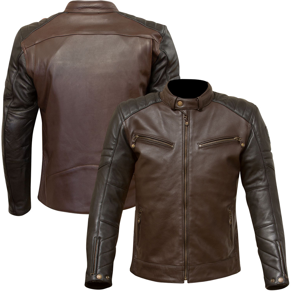 Merlin Chase two tone Leather Motorcycle Jacket