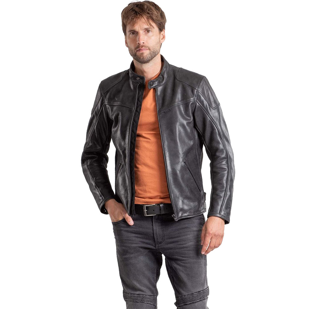 REVIT Sherwood Perforated Leather Motorcycle Jacket
