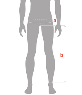 Hip and inseam measure guide male
