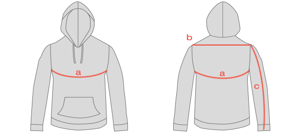 Draggin Hoodie Size Guide